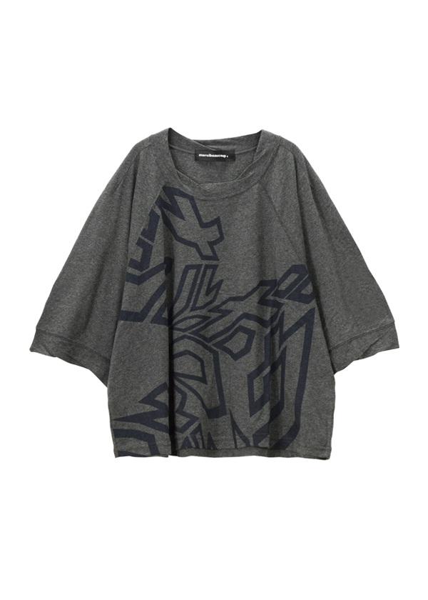 【SALE】メルシーボークー、 / S B:カタカナティー / Tシャツ チャコールグレー