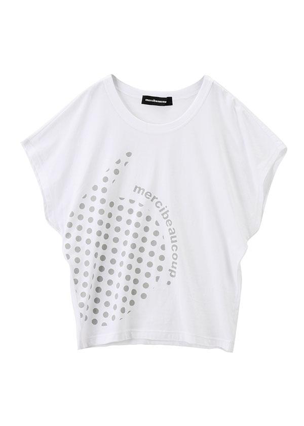 【SALE】メルシーボークー、 / S B:カンマティー / Tシャツ 白