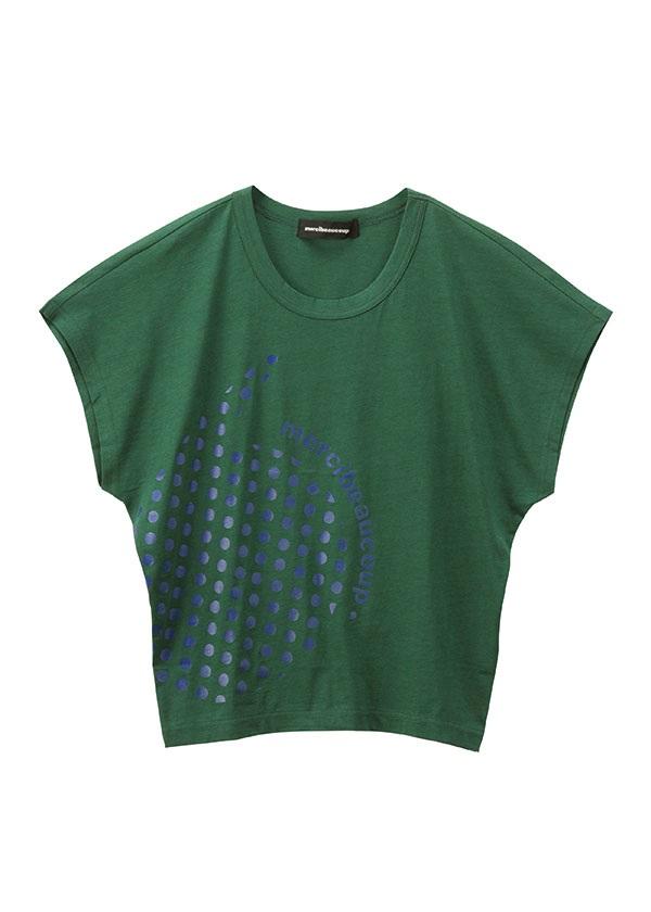 【SALE】メルシーボークー、 / S B:カンマティー / Tシャツ グリーン