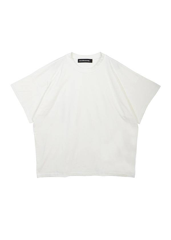 【SALE】メルシーボークー、 / S B:草木染メルティー / カットソー 白