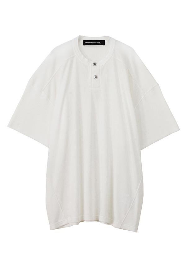 【SALE】メルシーボークー、 / S B:ワッフルソー / Tシャツ 白