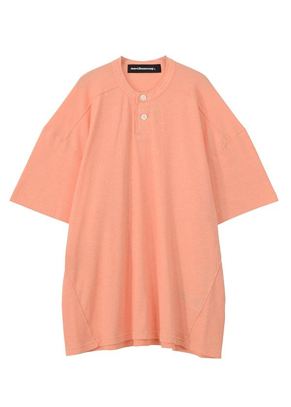 【SALE】メルシーボークー、 / S B:ワッフルソー / Tシャツ オレンジ / レンガ