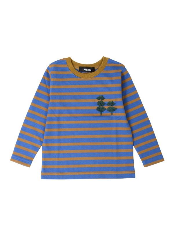 ネ・ネット / キッズ はやしボーダー / Tシャツ ブルー
