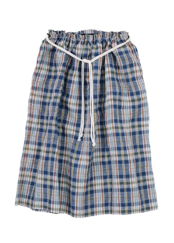 【SALE】ネ・ネット / S マドラスチェック / スカート ブルー