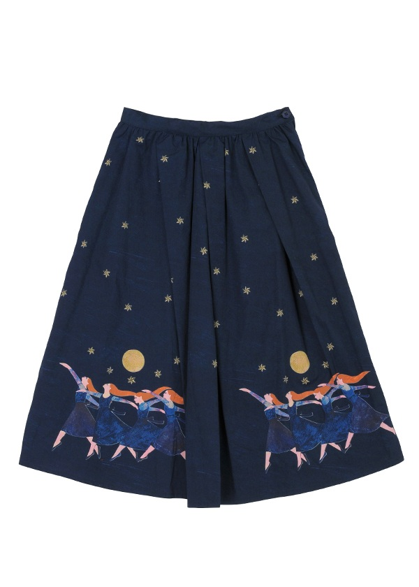 月夜のダンス ネイビー【ファッション・アパレル レディーススカート】【ネ・ネット にゃー】/NE73FG0621302