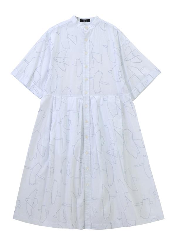 はばたきシャツ 白