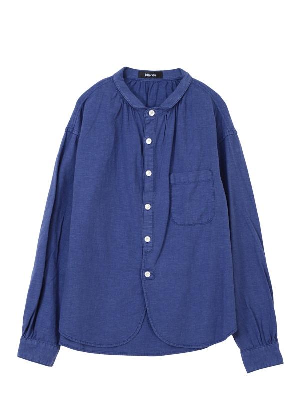 フィッシャーマンシャツ ブルー