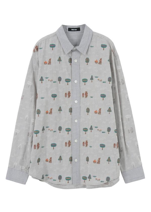 ネ・ネット / メンズ くまと木の実シャツ / シャツ