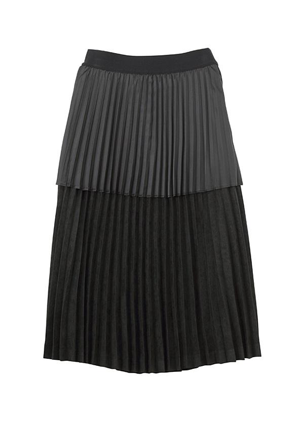 【SALE】ネ・ネット / S スウェードライクプリーツ / スカート 黒