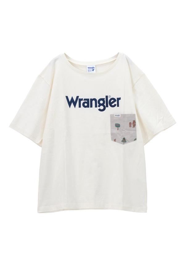 ネ・ネット / メンズ Wrangler TSHIRTS / Tシャツ 白【ファッション・アパレル メンズトップス】【ネ・ネット にゃー】/NE73JK0130103