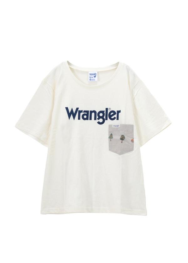 ネ・ネット / Wrangler TSHIRTS / Tシャツ 白【ファッション・アパレル レディースシャツ】【ネ・ネット にゃー】/NE73JK0130102