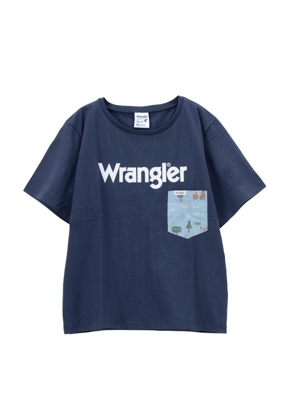 ネ・ネット / Wrangler TSHIRTS / Tシャツ ネイビー【ファッション・アパレル レディースシャツ】【ネ・ネット にゃー】/NE73JK0131302