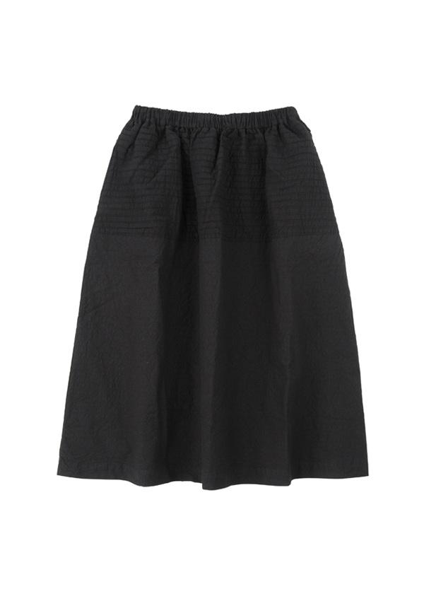【SALE】ネ・ネット / S クレープストライプ / スカート 黒