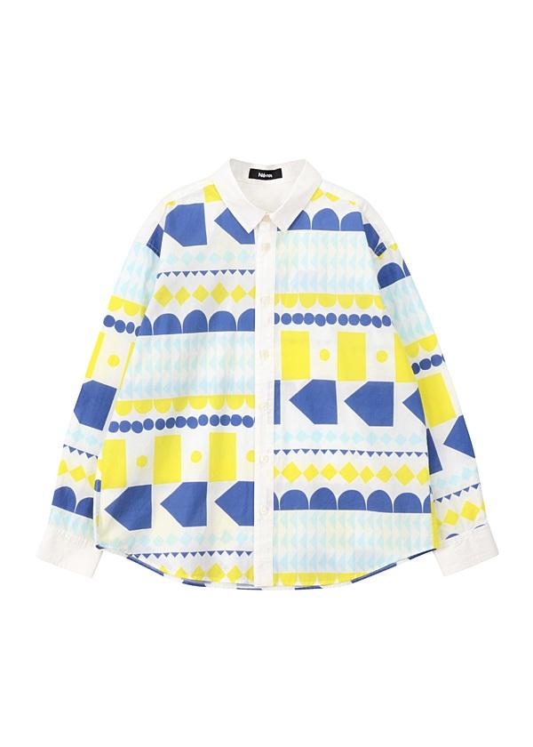 ネ・ネット / まるさんかくしかくシャツ / シャツ 白