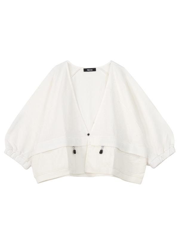 スモックジャージ / 羽織り 白