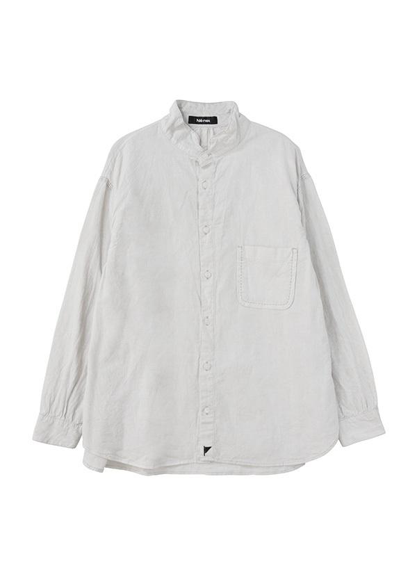 ネ・ネット / スミゾメフラッグシャツ / シャツ シルバーグレー