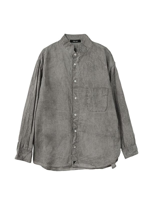 ネ・ネット / スミゾメフラッグシャツ / シャツ グレー