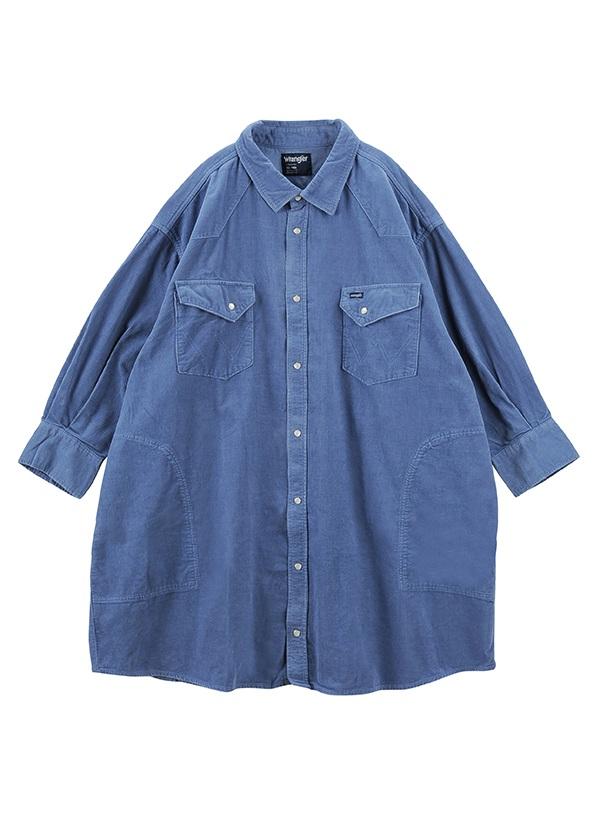 Wrangler CORDUROY SHIRT / シャツ ブルー