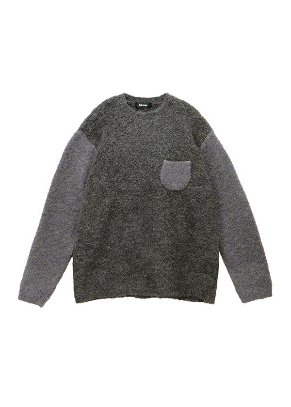 ブークレニット / セーター チャコールグレー