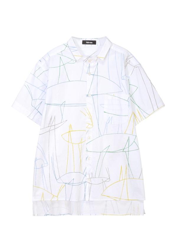 ネ・ネット / ドローイングシャツ / シャツ 白