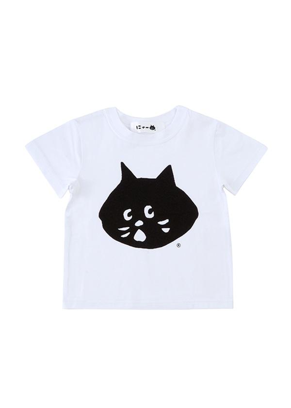 にゃー / ☆ GF キッズ にゃー T / Tシャツ 白