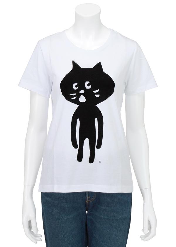 にゃー / 全身にゃー T / Tシャツ 白