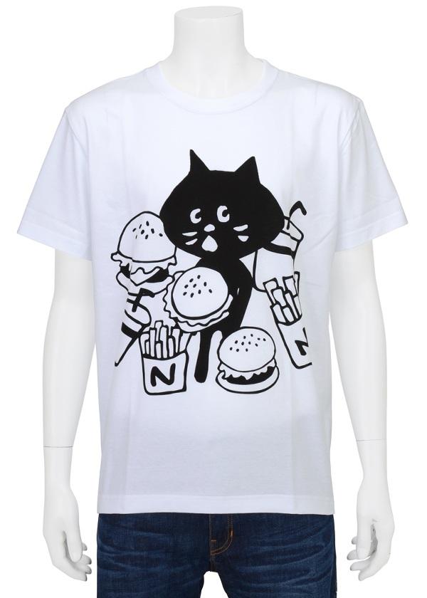 【SALE】にゃー / PD メンズ はんばーにゃー T / Tシャツ 白