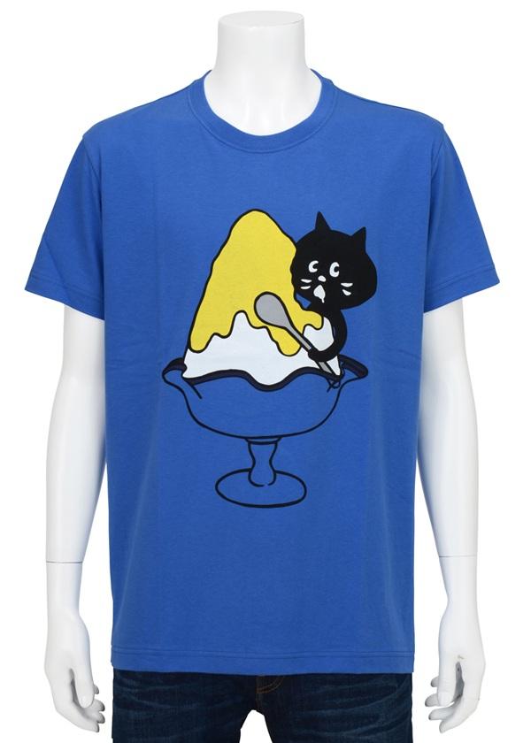 【SALE】にゃー / PD メンズ かきごおりにゃー T / Tシャツ ブルー