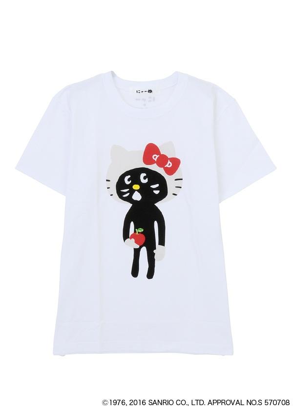 にゃー / ☆ GF メンズ にゃー×HELLO KITTY T / Tシャツ 白