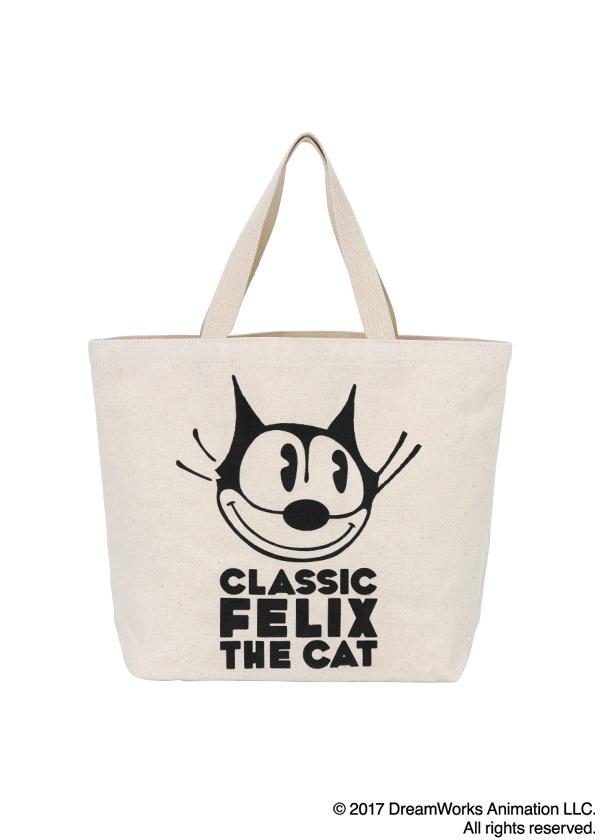 にゃー / にゃー×Felix the Cat バッグ / トートバッグ オフ白【バッグ・小物・ブランド雑貨 レディースバッグトートバッグ】【ネ・ネット にゃー】/NY73AG08402-