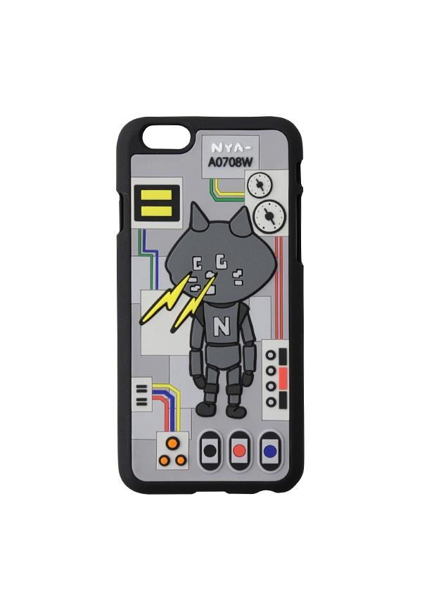 にゃー / SP びーむろぼにゃーphoneケース / iPhoneケース チャコールグレー