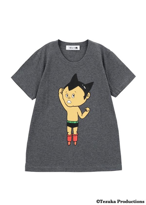 にゃー / にゃーがかいたとびだすアトム T / Tシャツ