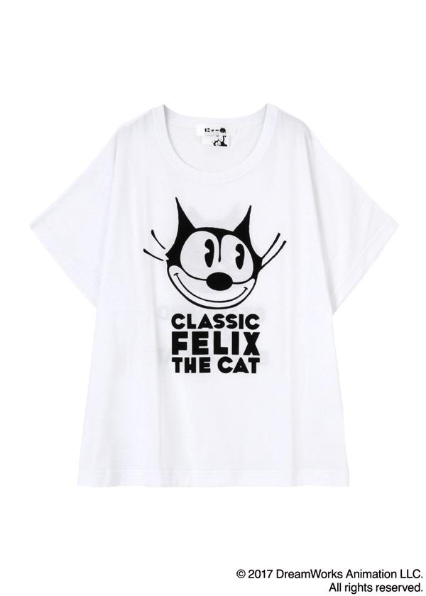 にゃー / にゃー×Felix the Cat T / Tシャツ 白【ファッション・アパレル レディースシャツ】【ネ・ネット にゃー】/NY73JK0810102