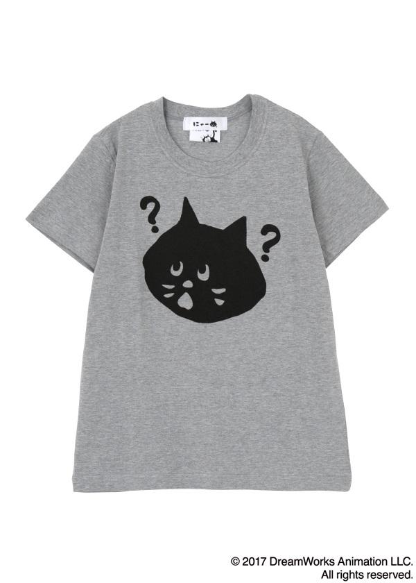 にゃー / にゃー×Felix the Cat はてなT / Tシャツ グレー【ファッション・アパレル レディースシャツ】【ネ・ネット にゃー】/NY73JK0822402
