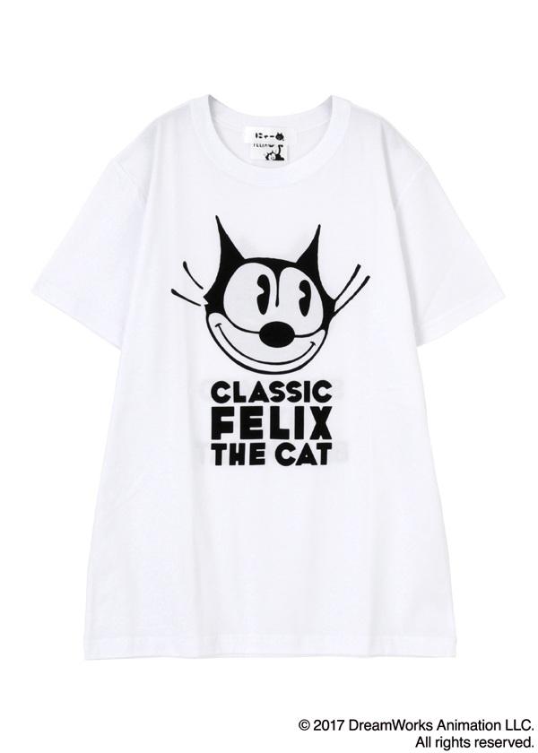 にゃー / メンズ にゃー×Felix the Cat T / Tシャツ 白【ファッション・アパレル メンズトップス】【ネ・ネット にゃー】/NY73JK7840103