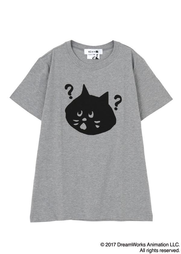 にゃー / メンズ にゃー×Felix the Cat はてなT / Tシャツ グレー【ファッション・アパレル メンズトップス】【ネ・ネット にゃー】/NY73JK7852403