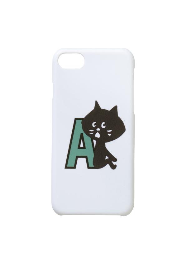 にゃー / アルファベットにゃーPhonecase / スマホケース ライトグリーン