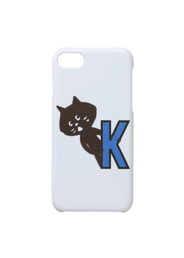 にゃー / アルファベットにゃーPhonecase / スマホケース ブルー