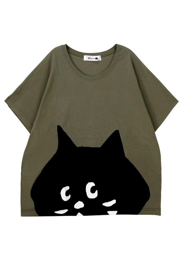 SUSOからにゃーT / Tシャツ カーキ