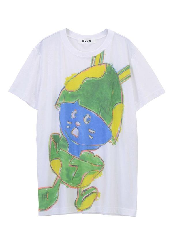 【SALE】にゃー / S メンズ たまごうさぎにゃーT / Tシャツ 白