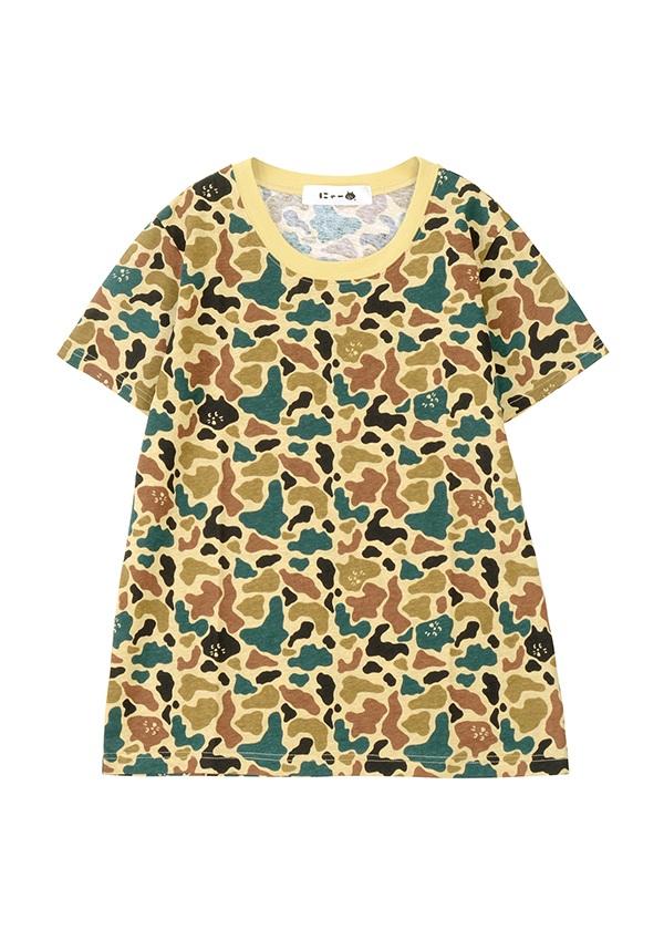 カモフラにゃーT / Tシャツ ベージュ