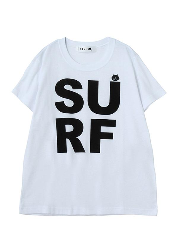 SURFにゃーT / Tシャツ 白