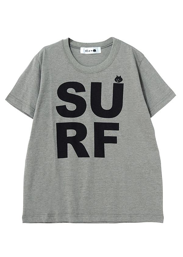 SURFにゃーT / Tシャツ カーキ