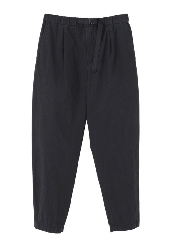 GF cotton nylon easy pants 黒