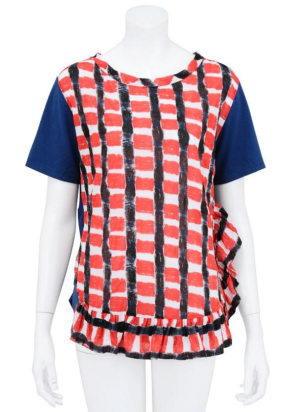 TSUMORI CHISATO / 塩縮チェック / Tシャツ