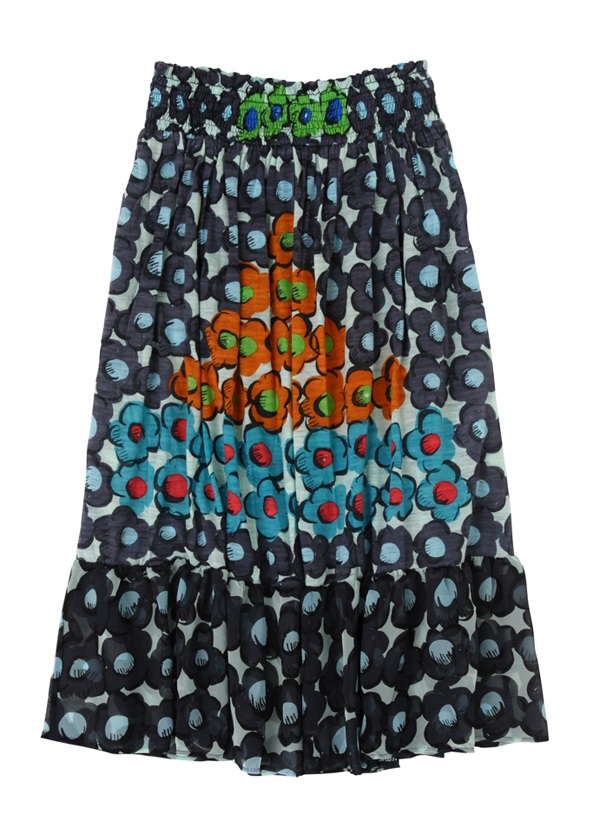 【SALE】TSUMORI CHISATO / S フラワーピラミッドT / スカート 黒