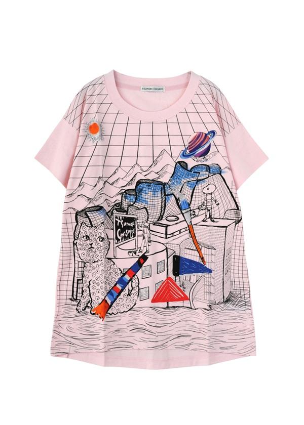 TSUMORI CHISATO / ビルバオユニバースT / Tシャツ ライトピンク【ファッション・アパレル レディースシャツ】【TSUMORI CHISATO(ツモリチサト)】/TC73JK1451702
