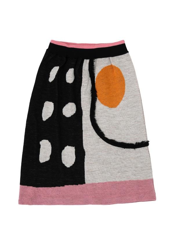 【SALE】TSUMORI CHISATO / S ハーフドットジャガード / スカート オフ白