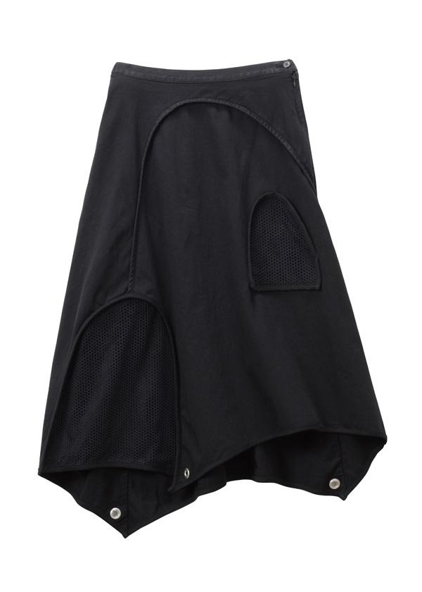 【SALE】TSUMORI CHISATO / S バーリントン&パンチング / スカート 黒