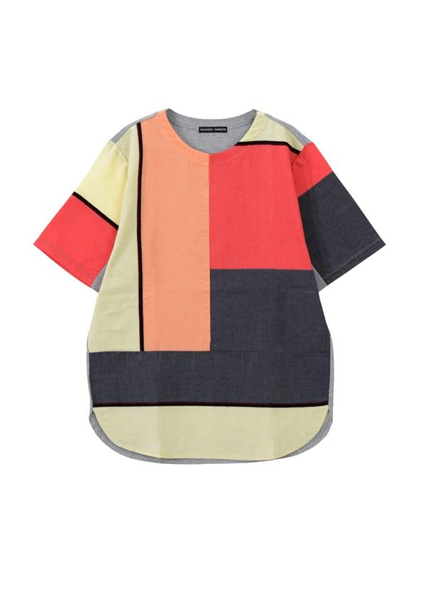 TSUMORI CHISATO / メンズ ビッグボーダーT / Tシャツ オレンジ / レンガ【ファッション・アパレル メンズトップス】【TSUMORI CHISATO Men's(ツモリチサト)】/TM73JK7102002